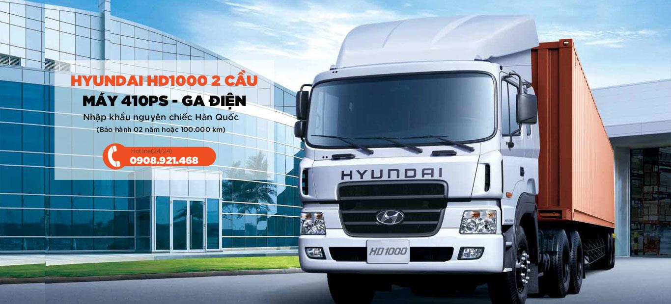 Xe đầu kéo Hyundai 2 cầu máy 410ps - HD1000
